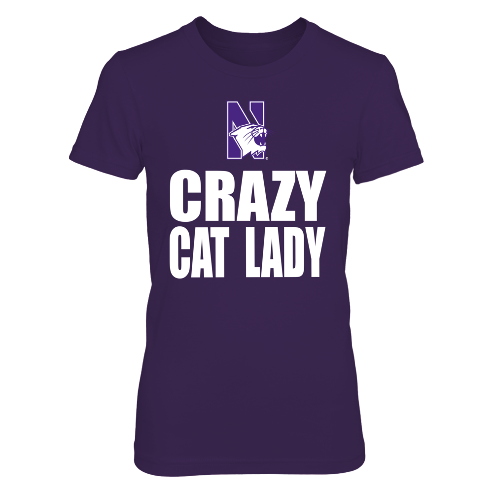 Crazy Cat Lady Northwestern Wildcats Front picture