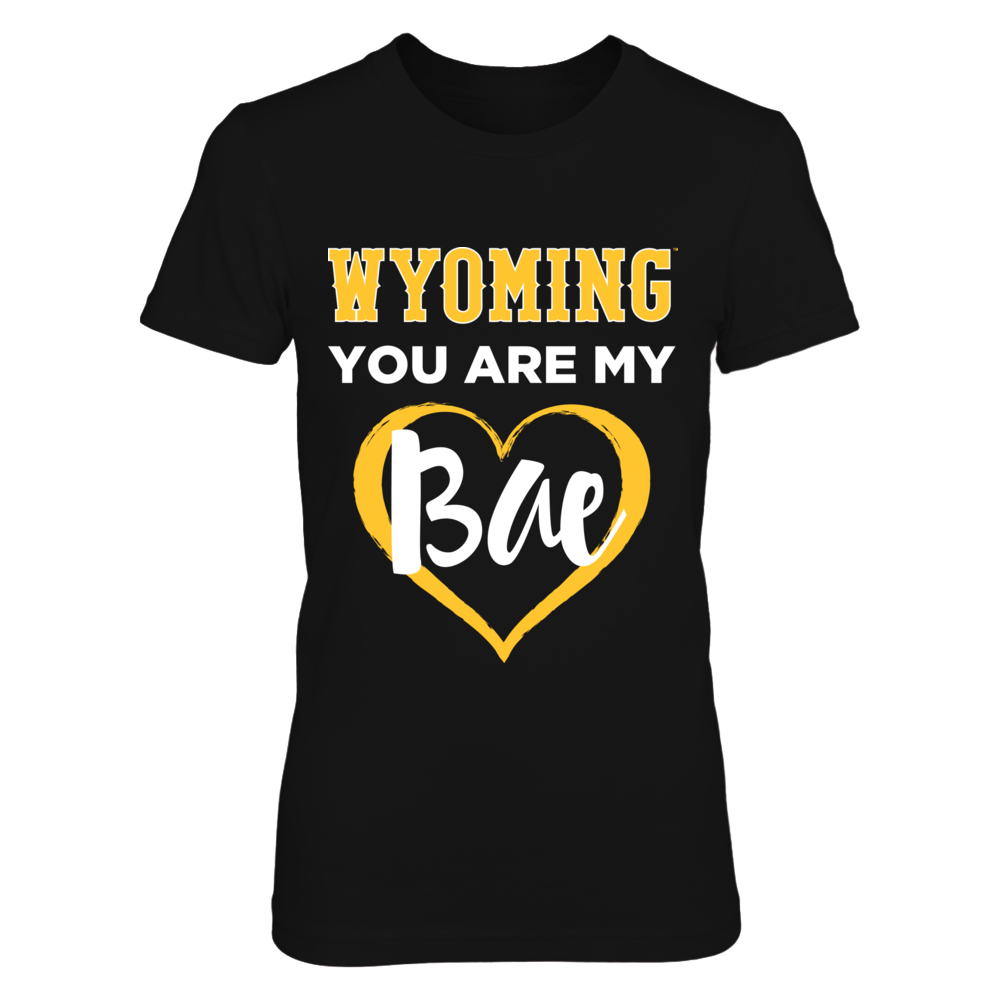 Wyoming You Are My Bae - Womens Wyoming Cowboys Shirt Front picture