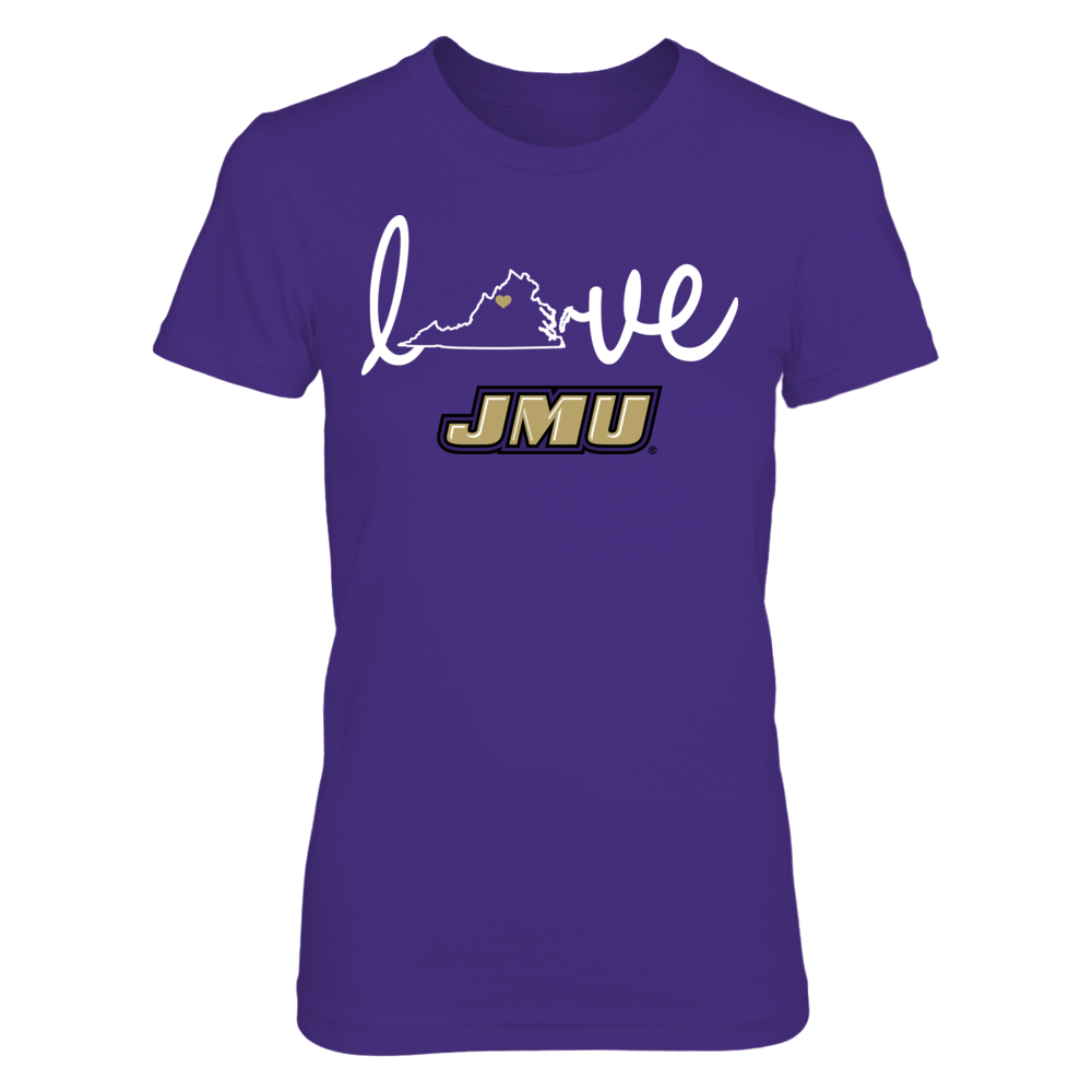 James Madison Dukes - Love With State Outline Front picture