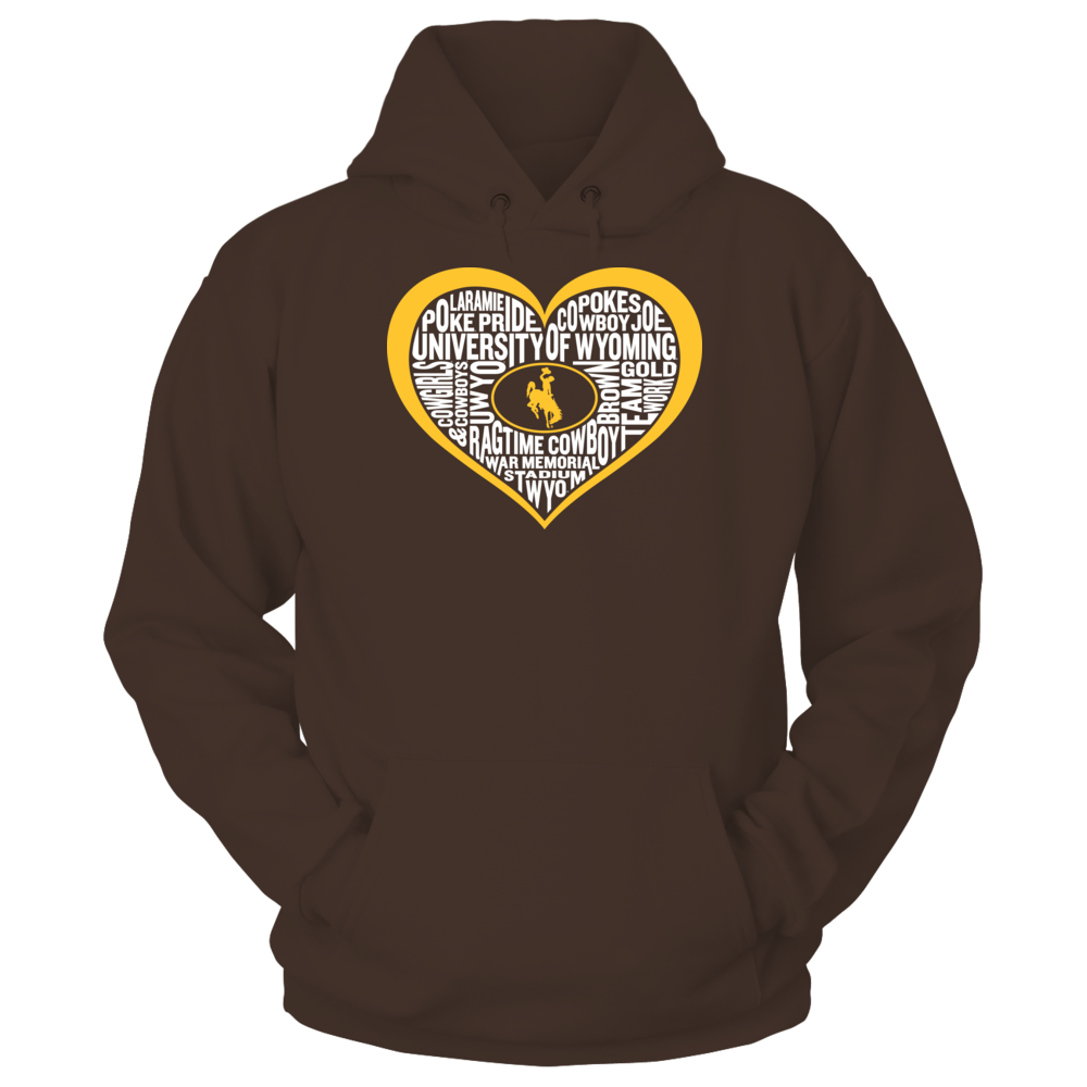 Word Cloud Heart - Wyoming Cowboys Front picture