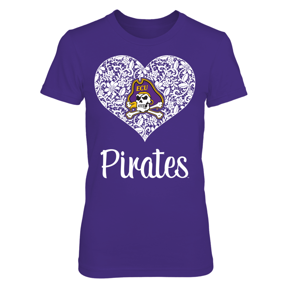 East Carolina Pirates East Carolina Pirates - Lace Heart Logo FanPrint