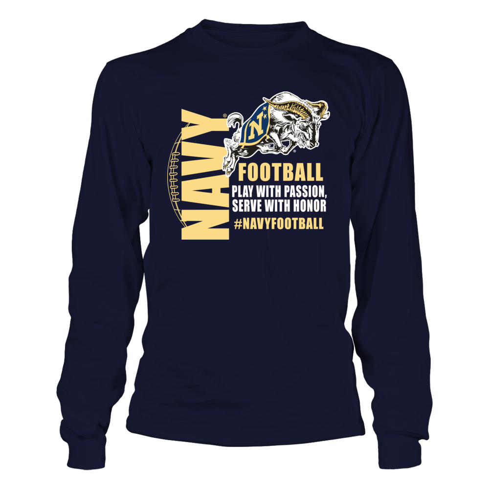 Navy Football Apparel - Play with Passion Front picture