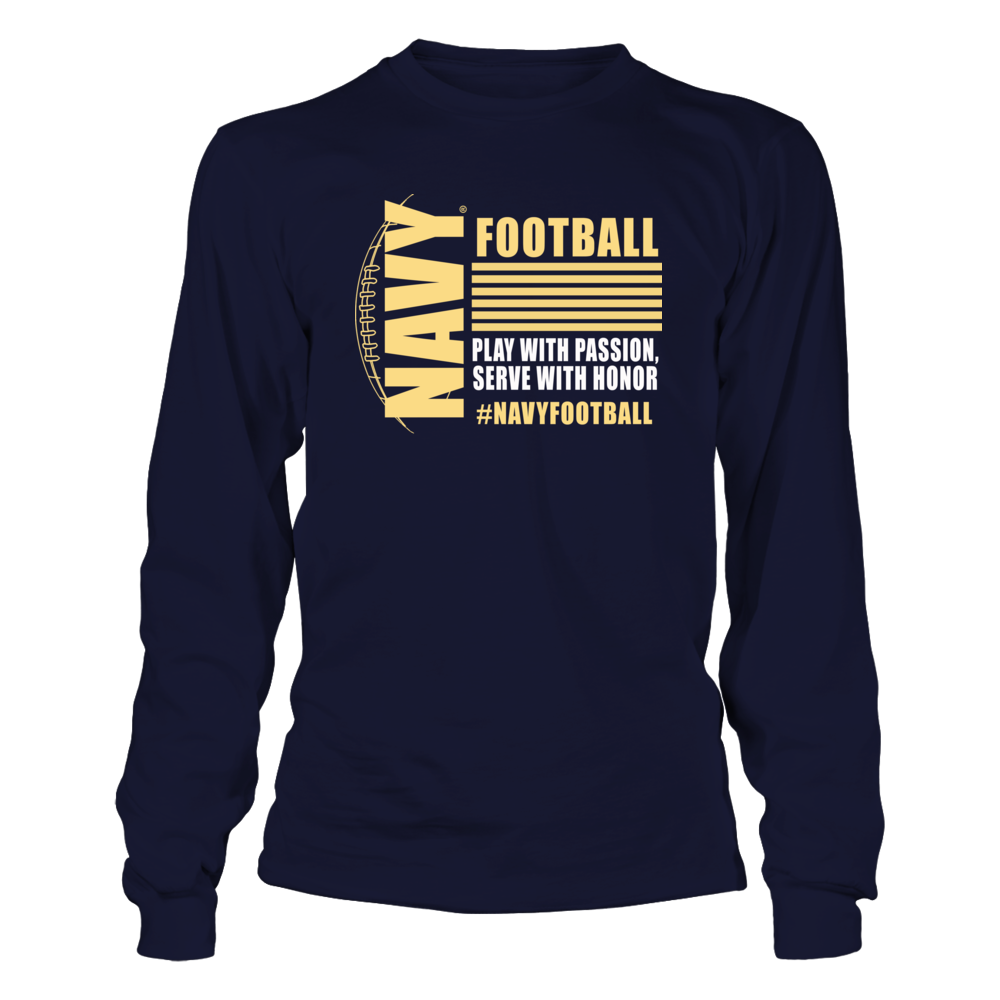 Navy Midshipmen Navy Football Apparel - Serve with Honor FanPrint