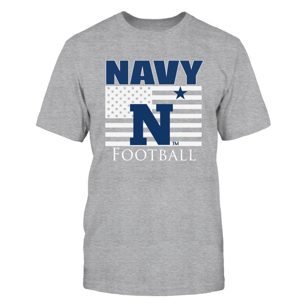 Navy Football Clothing - Patriotic Navy Flag Front picture
