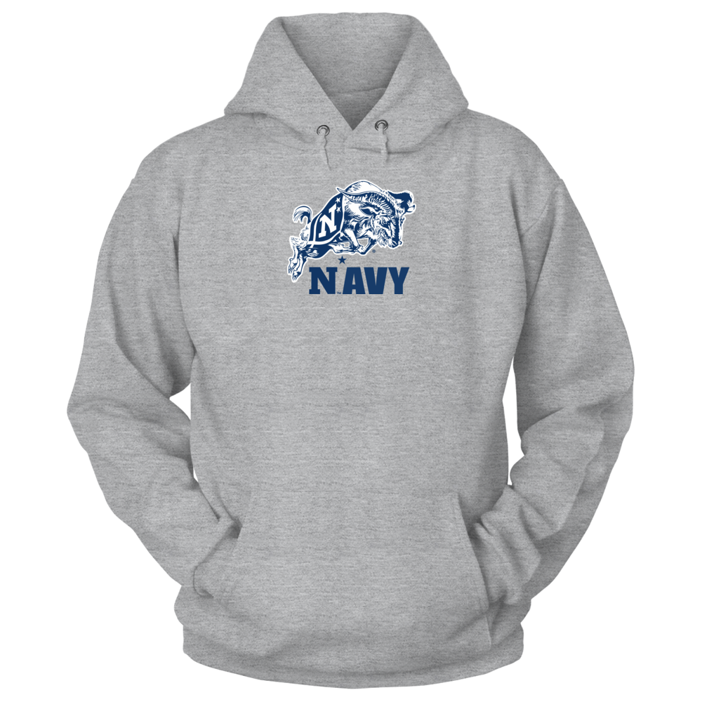 Navy Football Mascot Shirt and Apparel Front picture