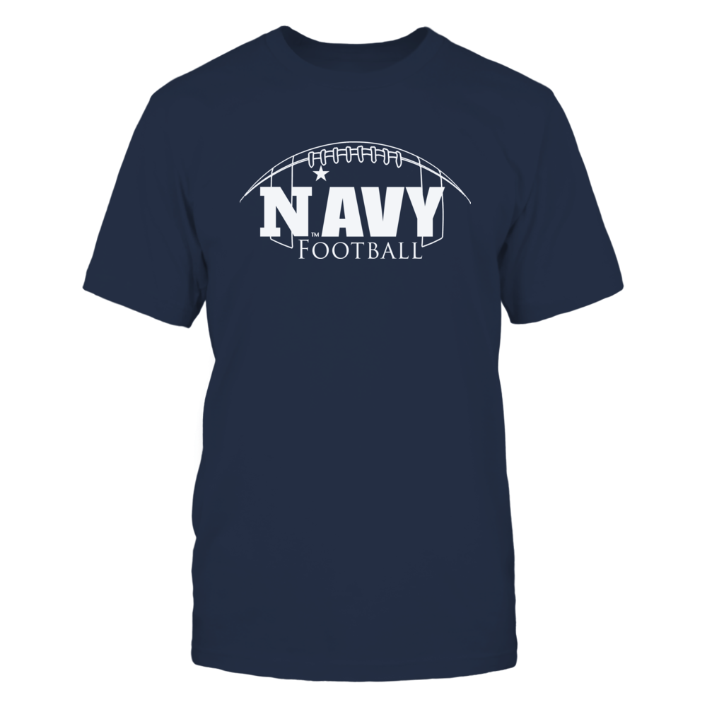 Navy Football Mascot Clothing - Football Outline Front picture