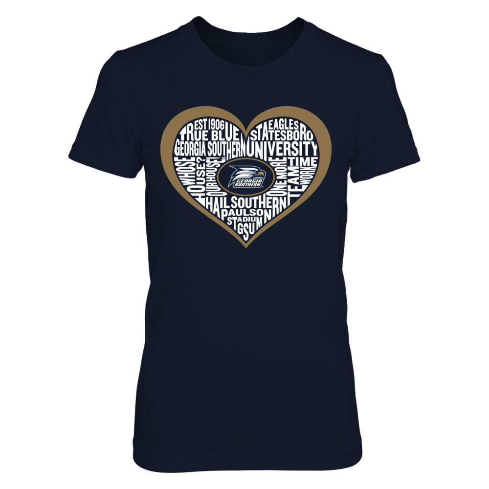 Word Cloud Heart - Georgia Southern Eagles Front picture