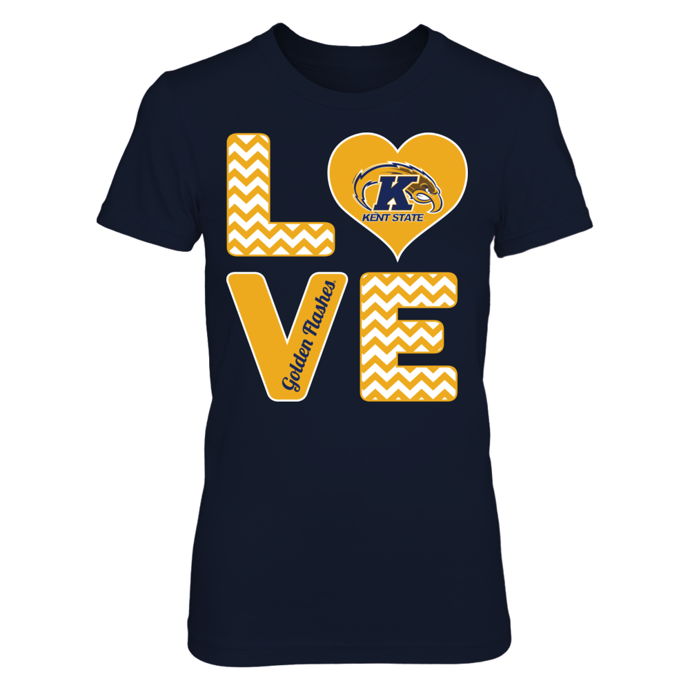 Kent State Golden Flashes Stacked Love - Kent State Golden Flashes FanPrint