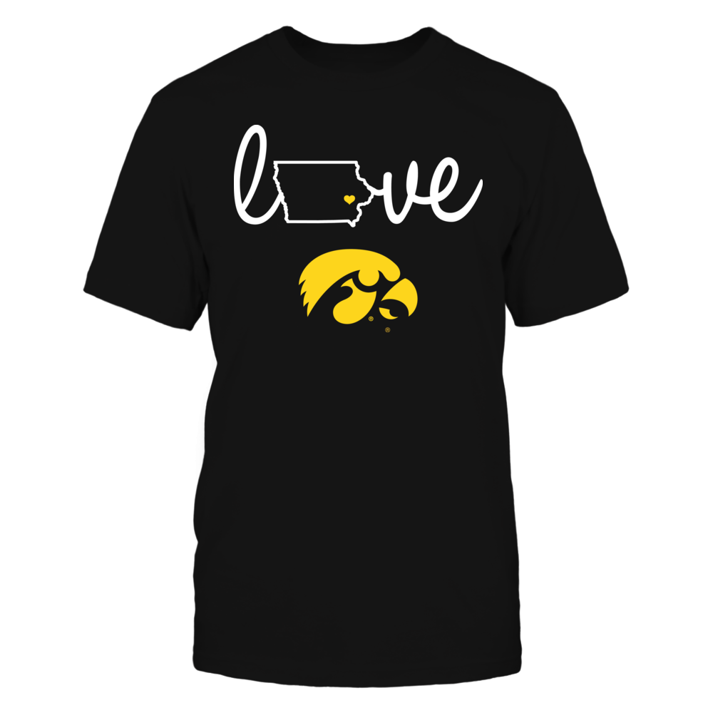 Iowa Hawkeyes - Love With State Outline Front picture