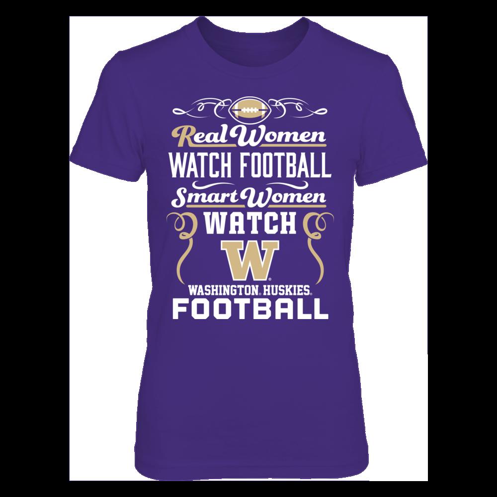 Real Women Watch Football, Smart Women Watch - Washington Huskies Front picture
