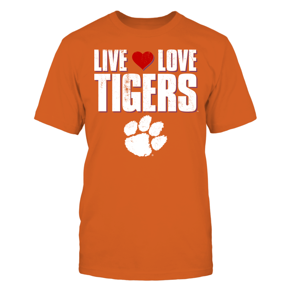 Clemson Tigers Live Love Tigers - Clemson University FanPrint