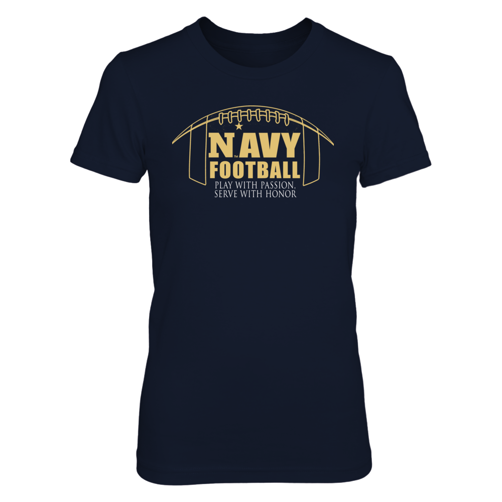 Navy Football Apparel - Play with Passion, Serve with Honor Front picture