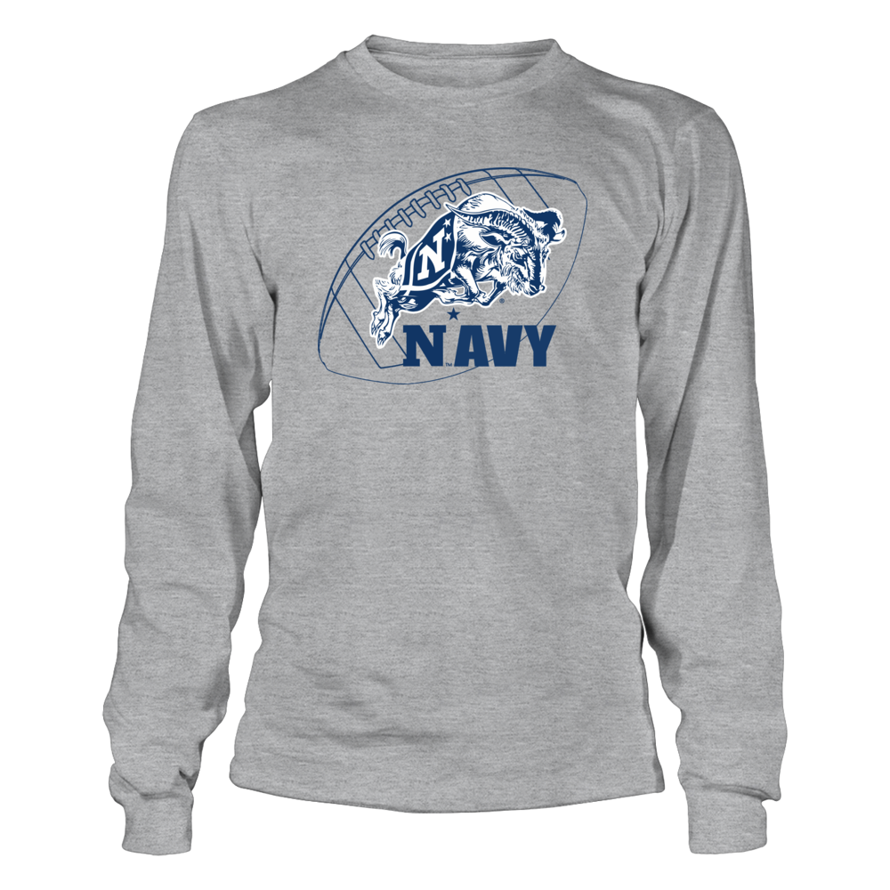 Navy Midshipmen US Naval Academy Football with Mascot FanPrint