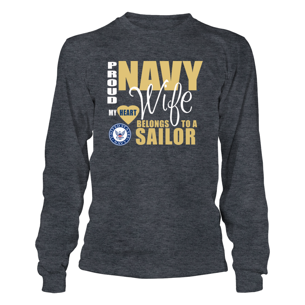 Proud Navy Wife Clothing - My Heart Belongs to a Sailor Front picture