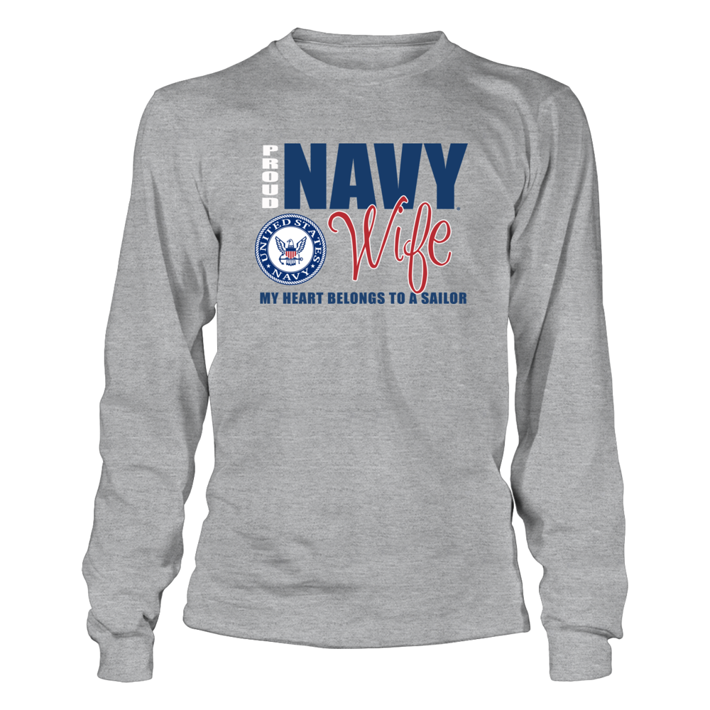 Official Navy Clothing - Proud Navy Wife Clothing Front picture
