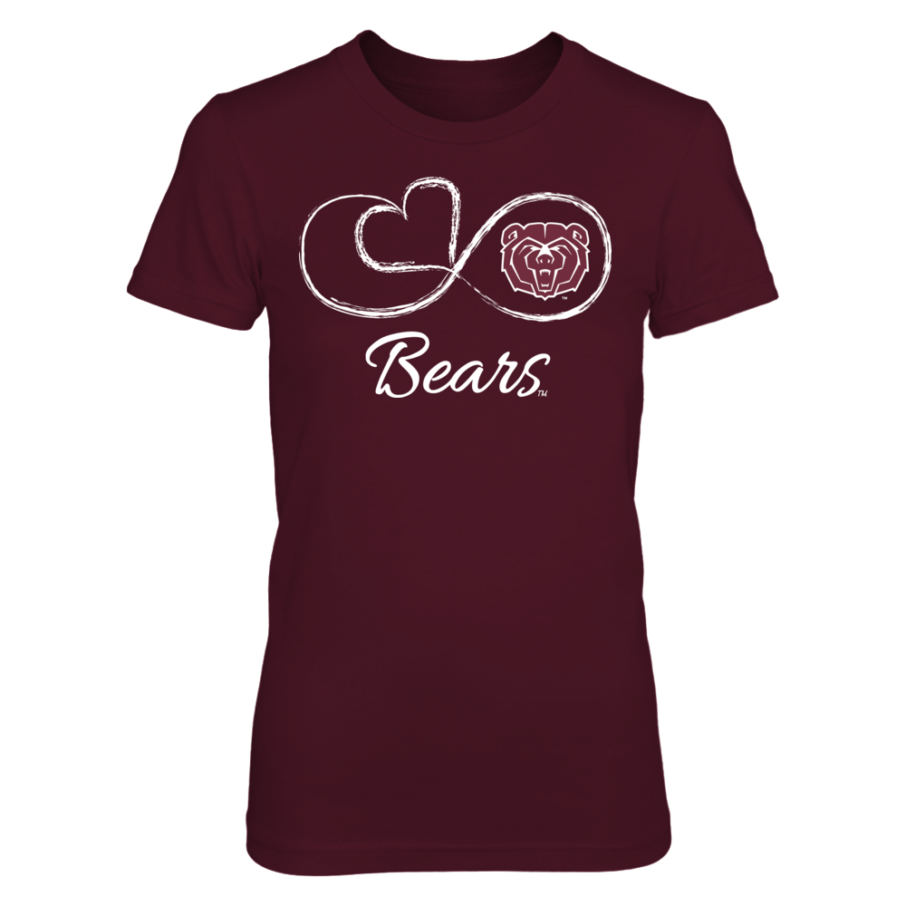 Missouri State Bears Infinite Heart - Missouri State Bears FanPrint