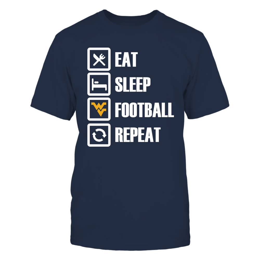 West Virginia Mountaineers Eat Sleep WV Football Repeat FanPrint