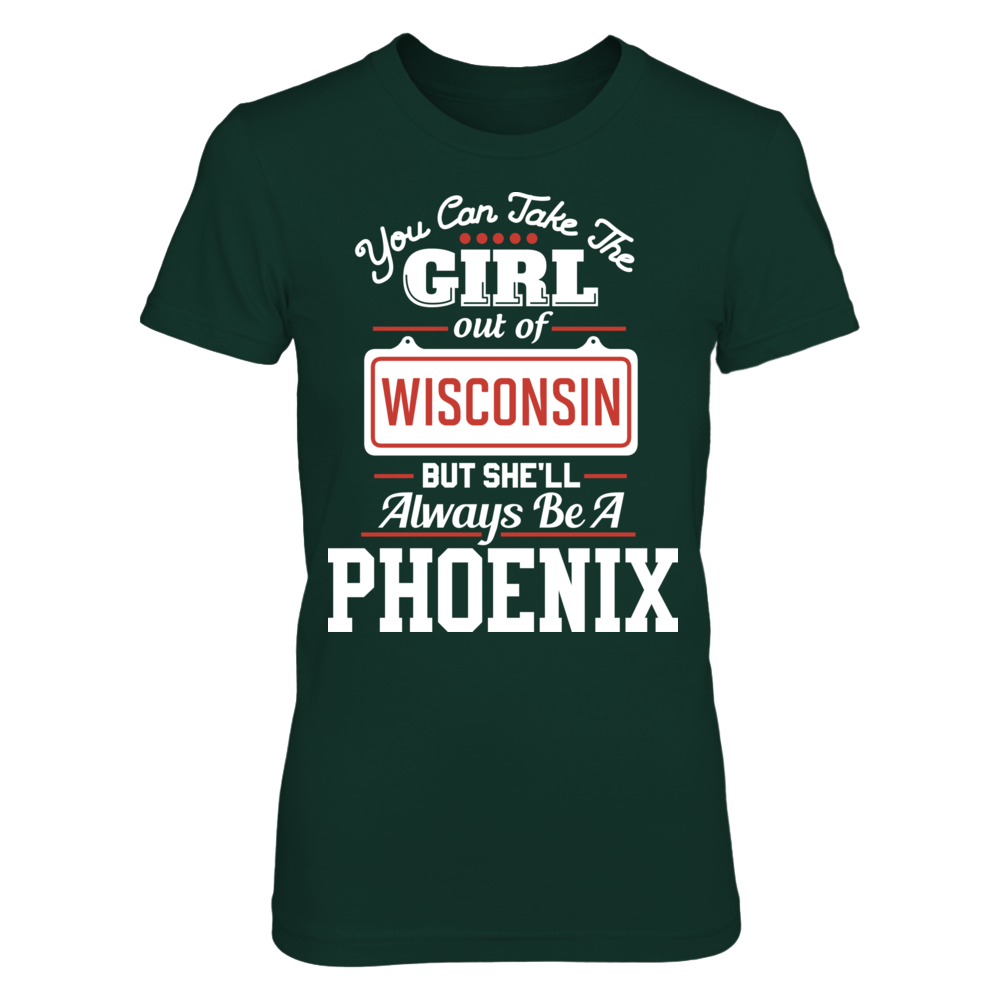 Wisconsin-Green Bay Phoenix University Of Wisconsin Green Bay - Take Girl Out But She'll Always Be FanPrint