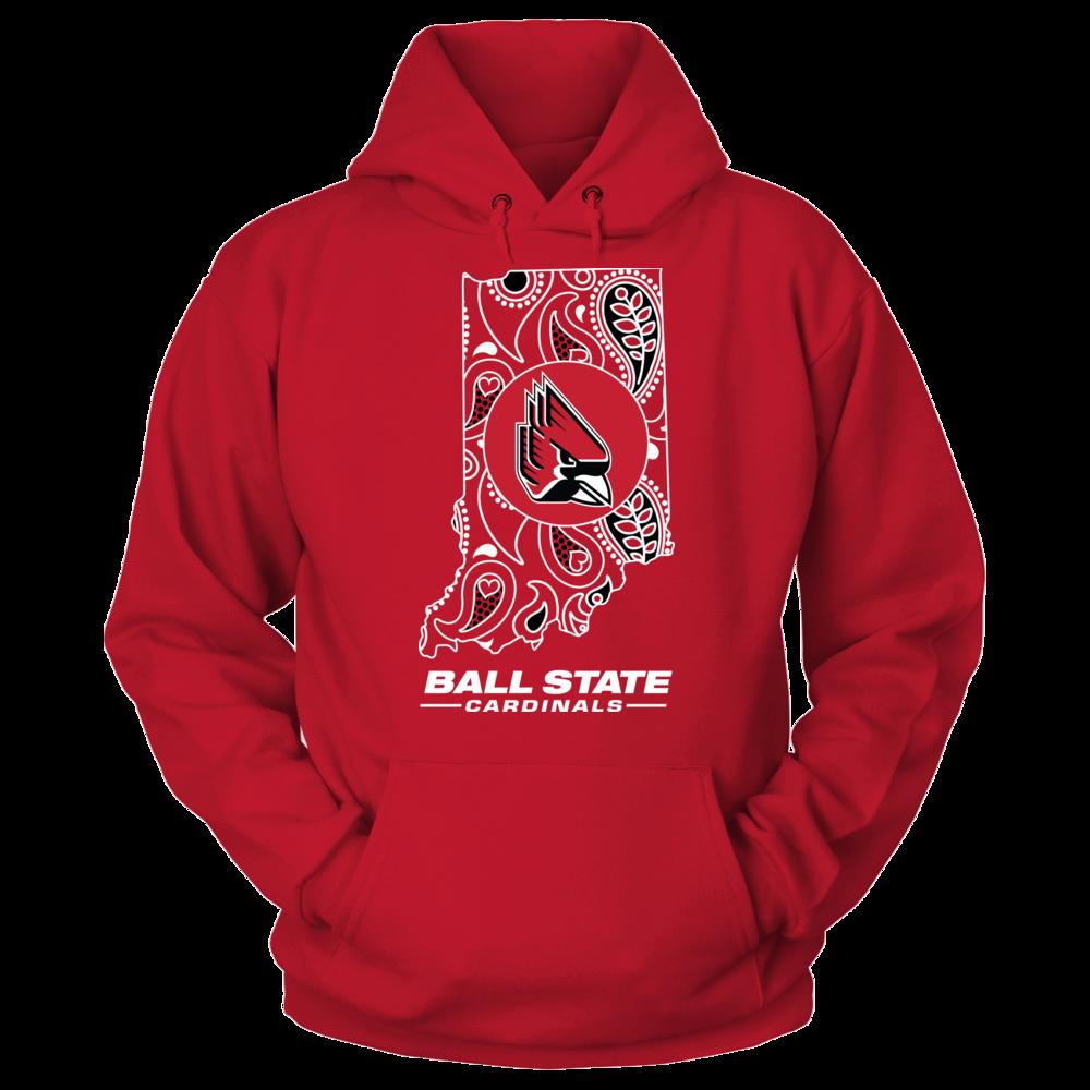 Ball State Cardinals Paisley State - Ball State Cardinals FanPrint