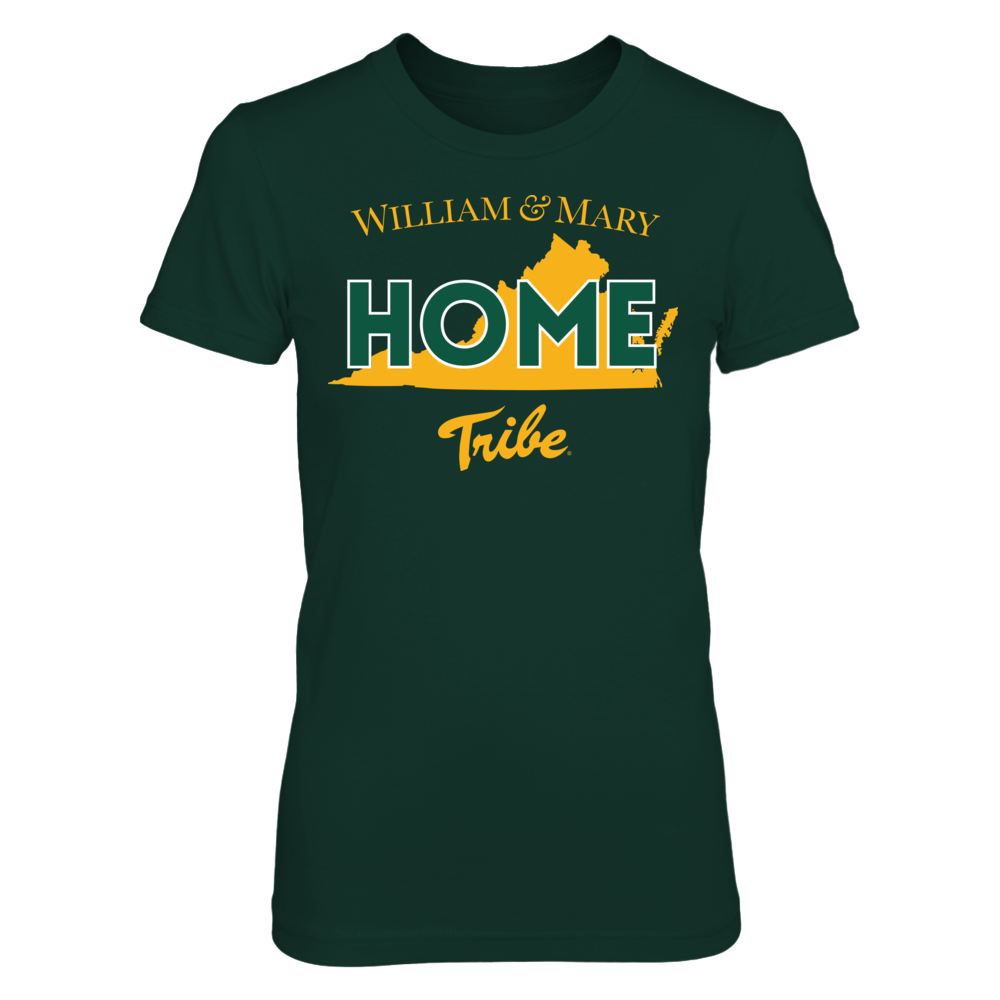 Home With State Outline - William & Mary Tribe Front picture