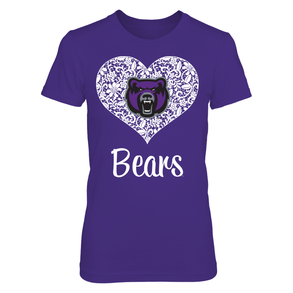 Central Arkansas Bears Lace Heart - Central Arkansas Bears FanPrint