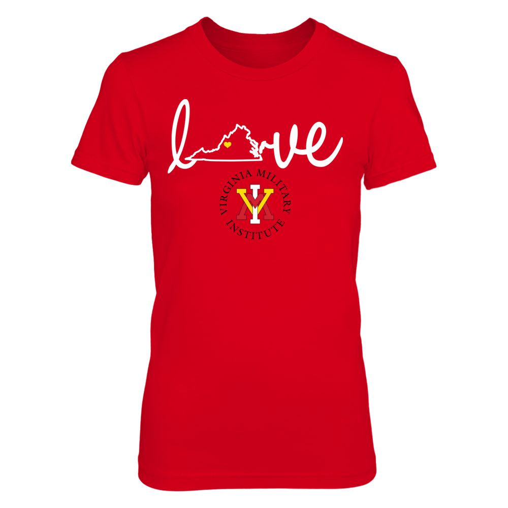 VMI Keydets Love With State Outline - VMI Keydets FanPrint