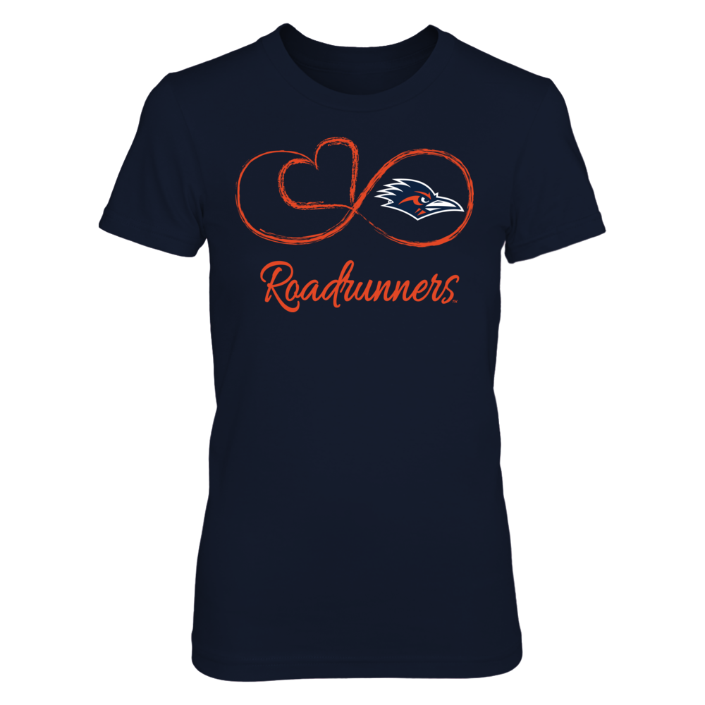 UTSA Roadrunners Infinite Heart  - UTSA Roadrunners FanPrint