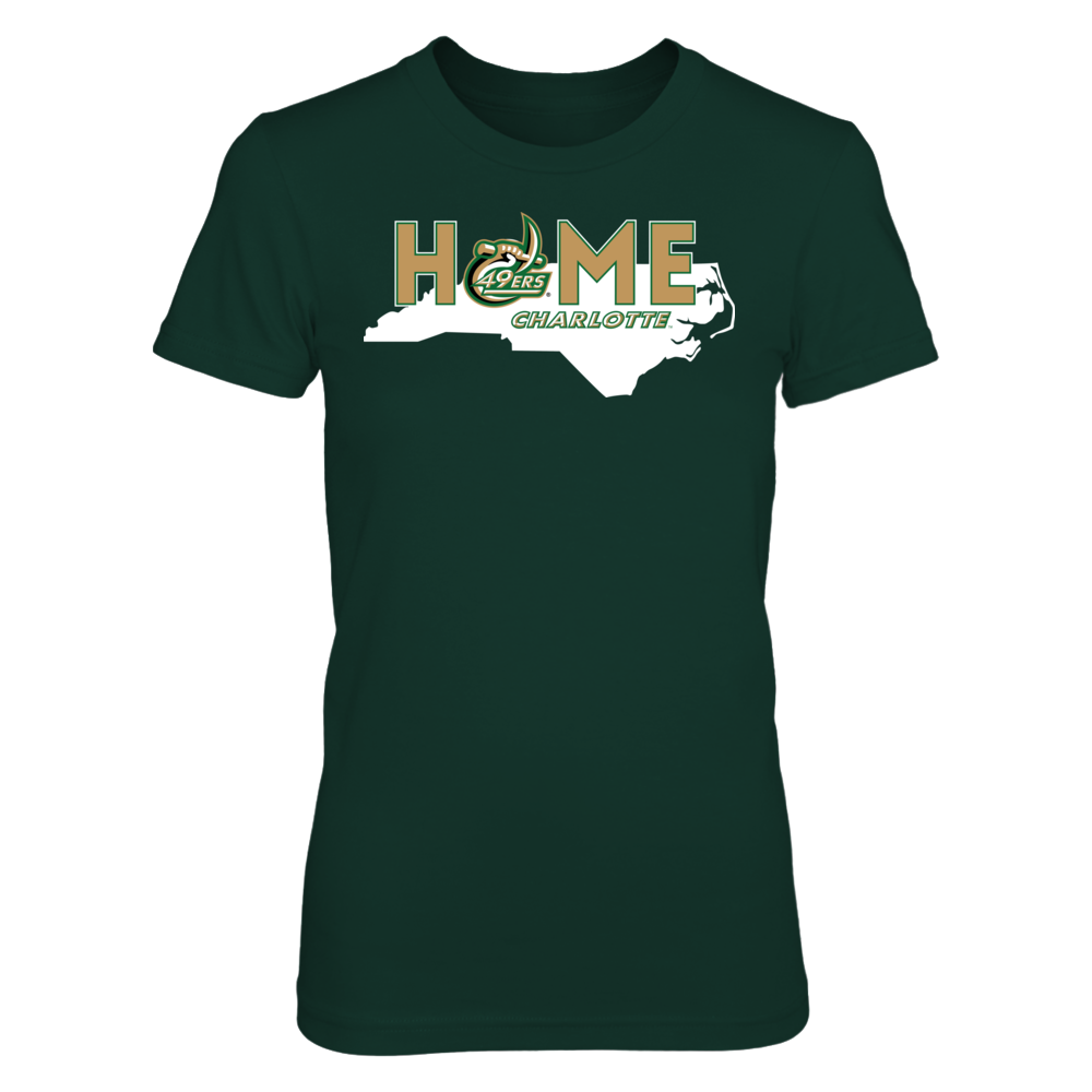 Home With State Outline - UNC Charlotte 49ers Front picture