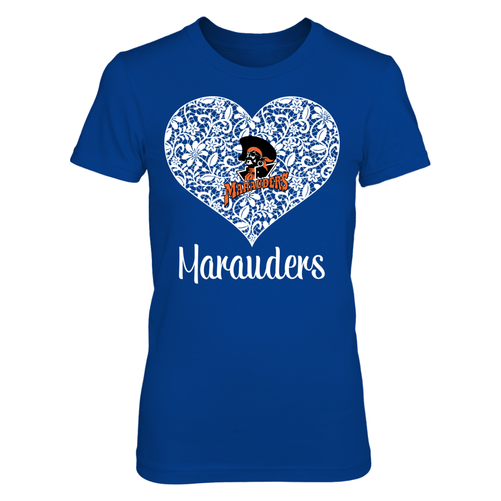 U-Mary Marauders Lace Heart Logo - U-Mary Marauders FanPrint