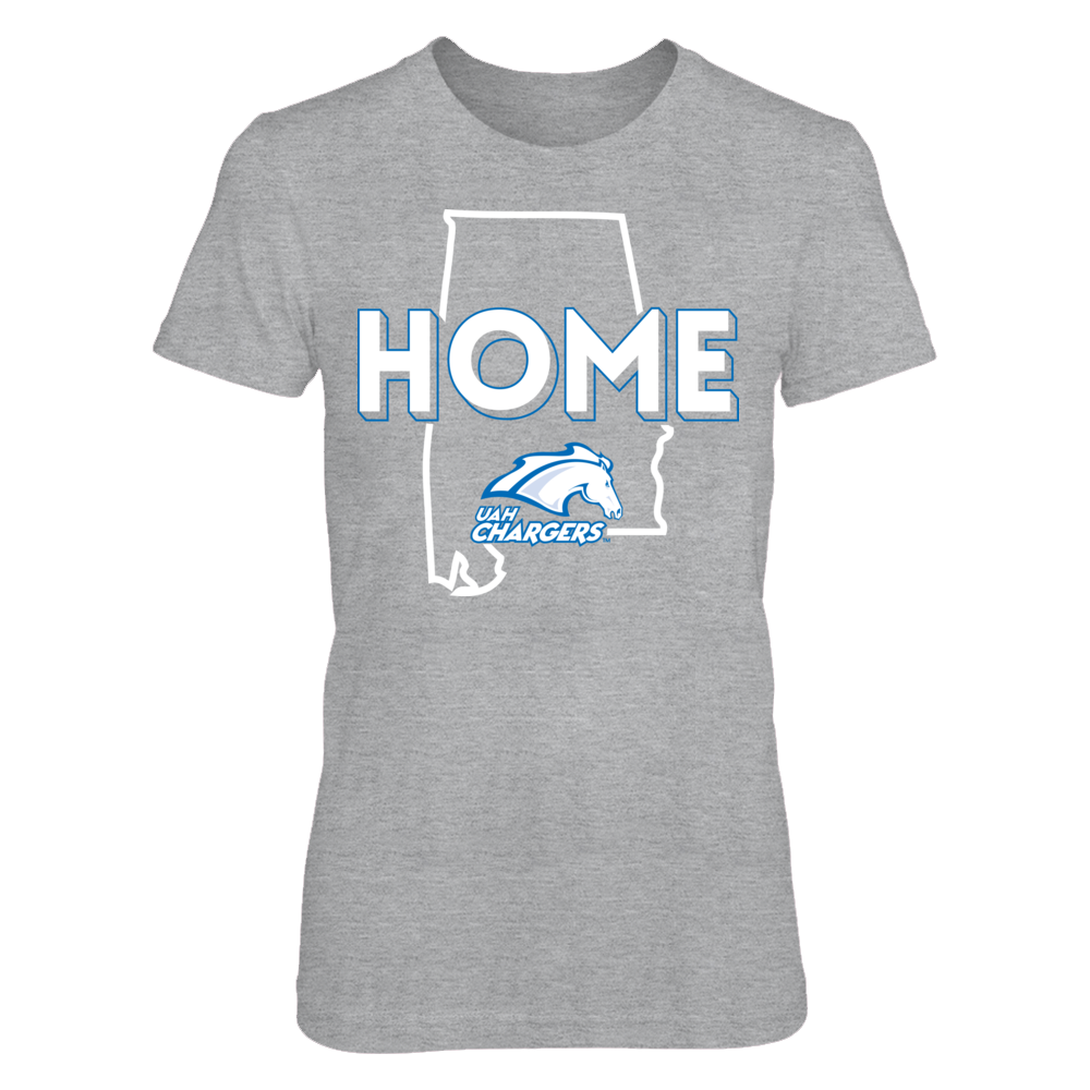 UAH Chargers Home With State Outline - UAH Chargers FanPrint