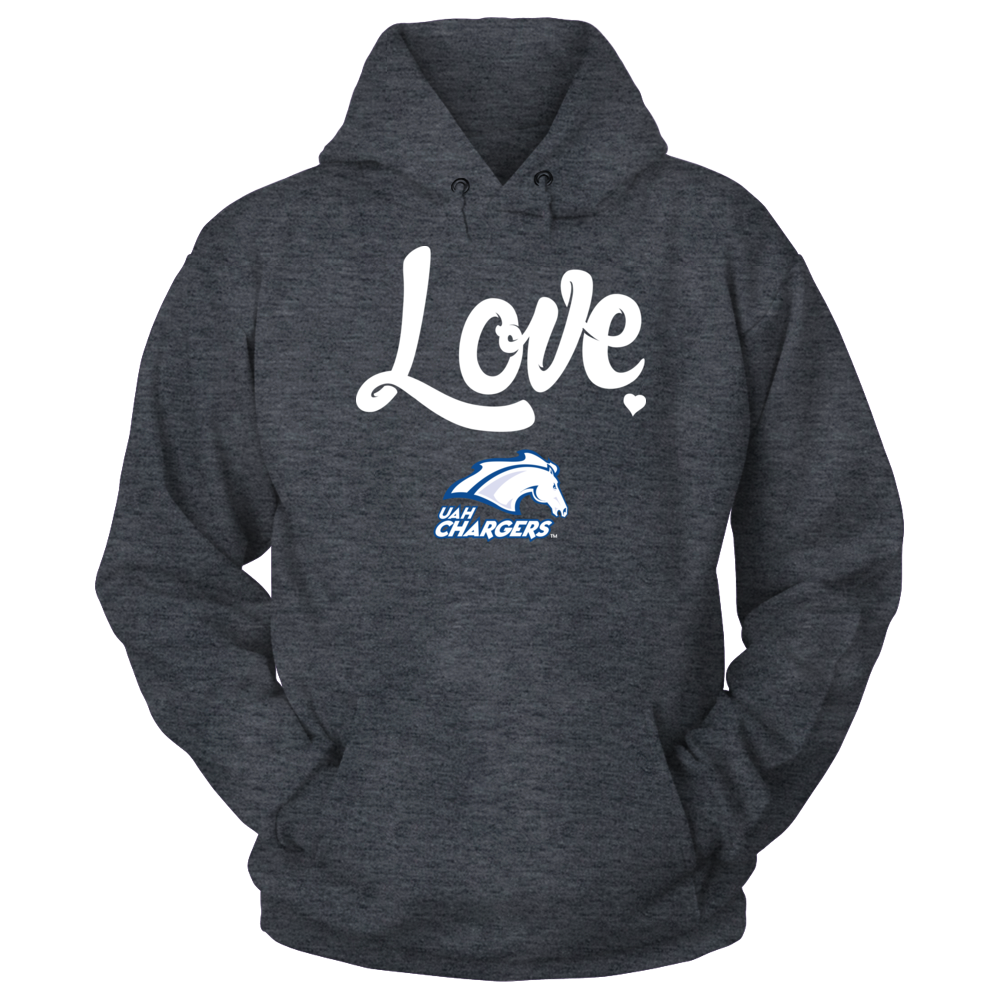 UAH Chargers Mascot Love - UAH Chargers FanPrint
