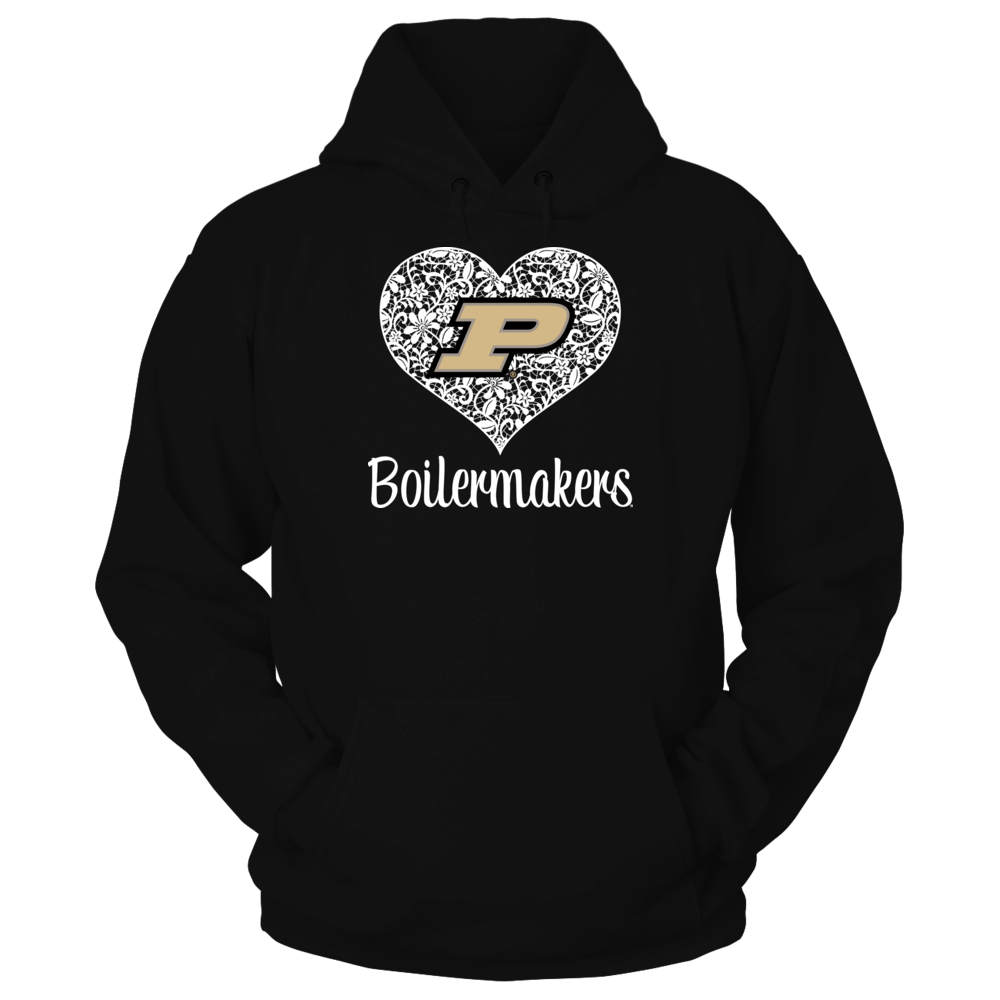 Purdue Boilermakers - Lace Heart Logo Front picture