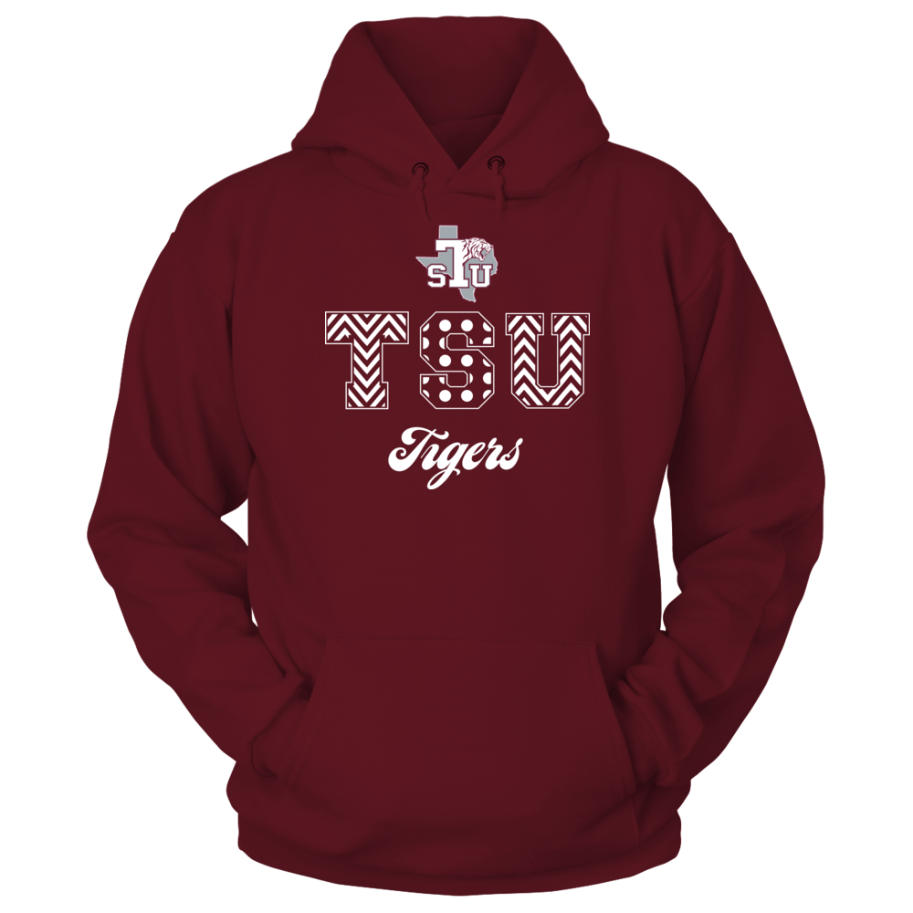 Texas Southern Tigers Patterned Letters - Texas Southern Tigers FanPrint