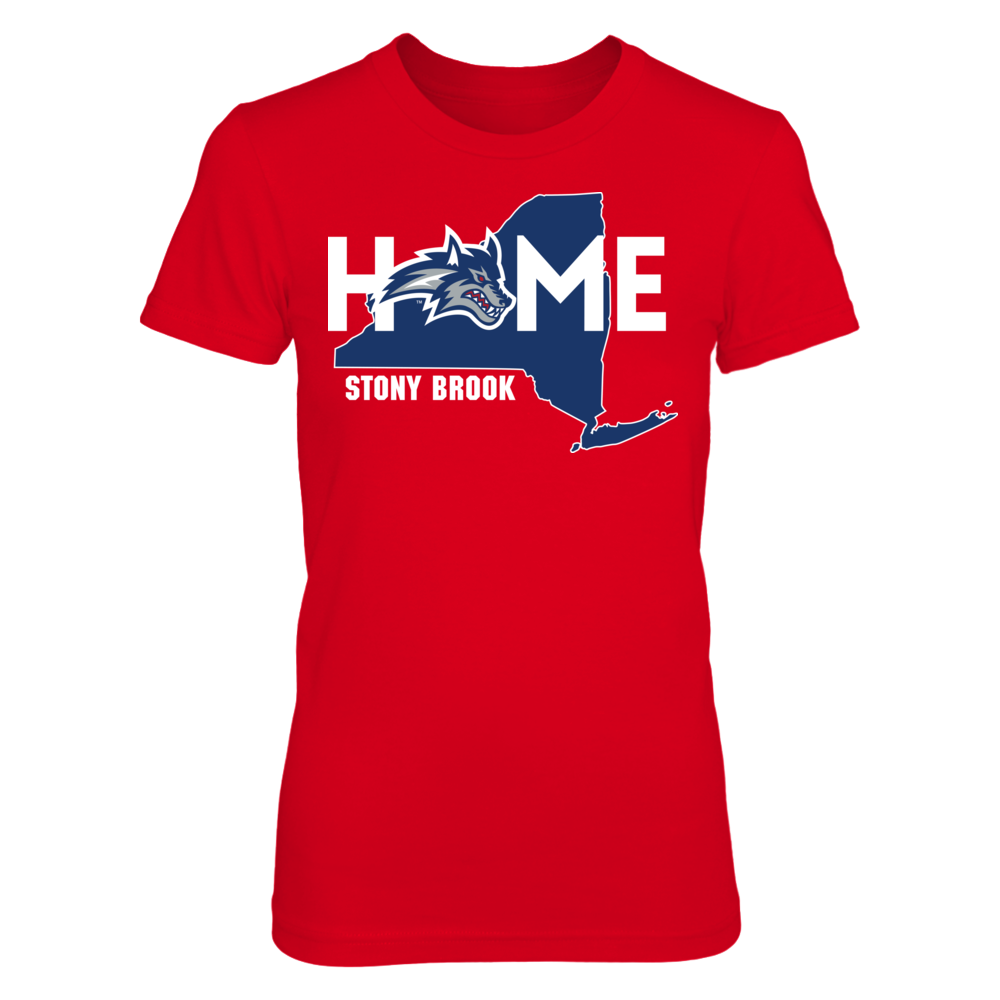 Stony Brook Seawolves Home With State Outline - Stony Brook Seawolves FanPrint