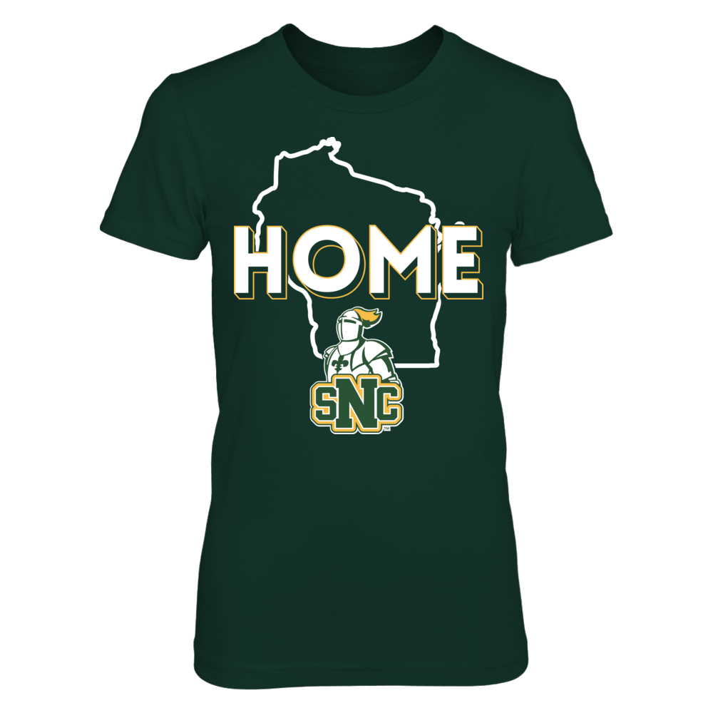 St. Norbert Green Knights Home With State Outline - St. Norbert Green Knights FanPrint