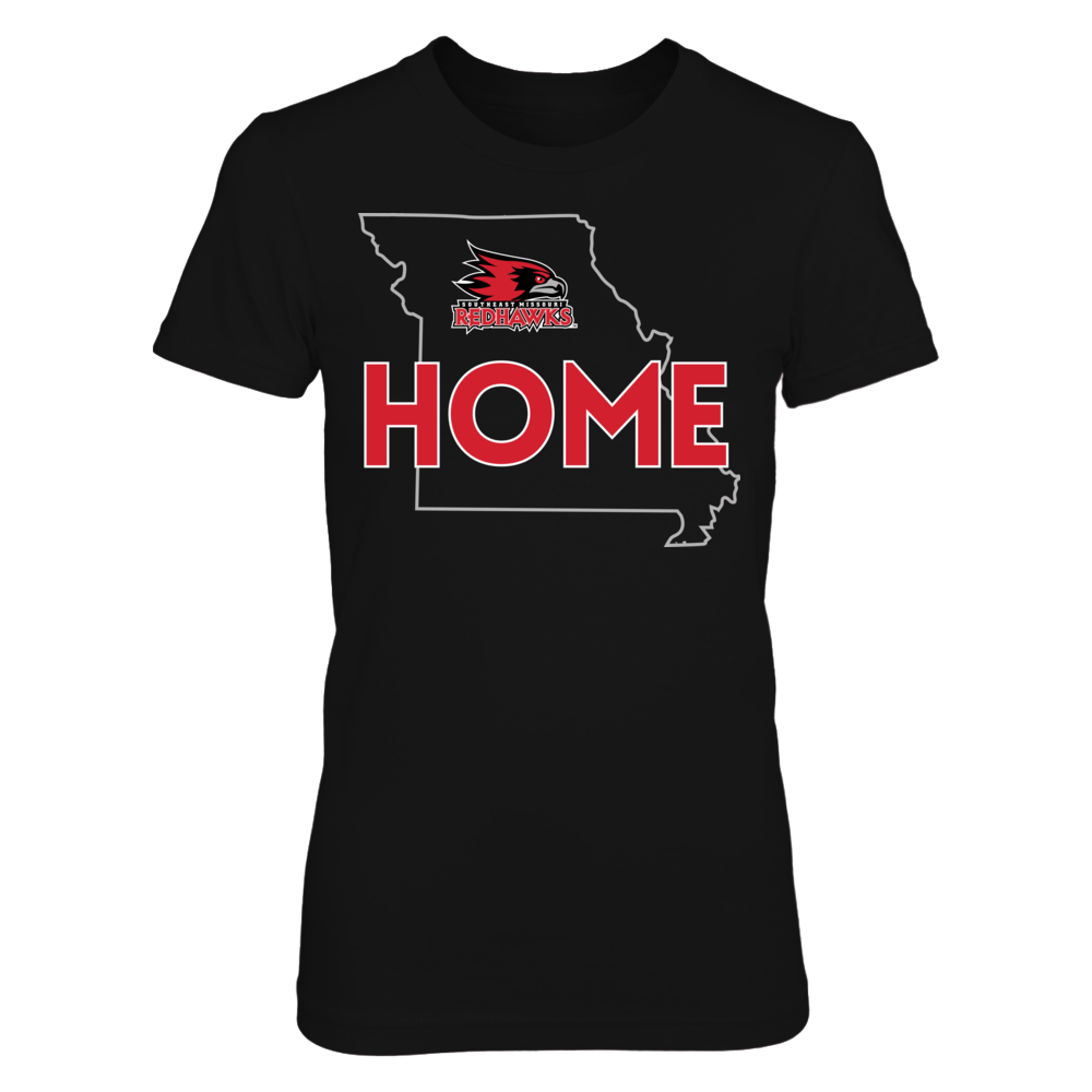 Southeast Missouri State Redhawks Home With State Outline - Southeast Missouri State Redhawks FanPrint
