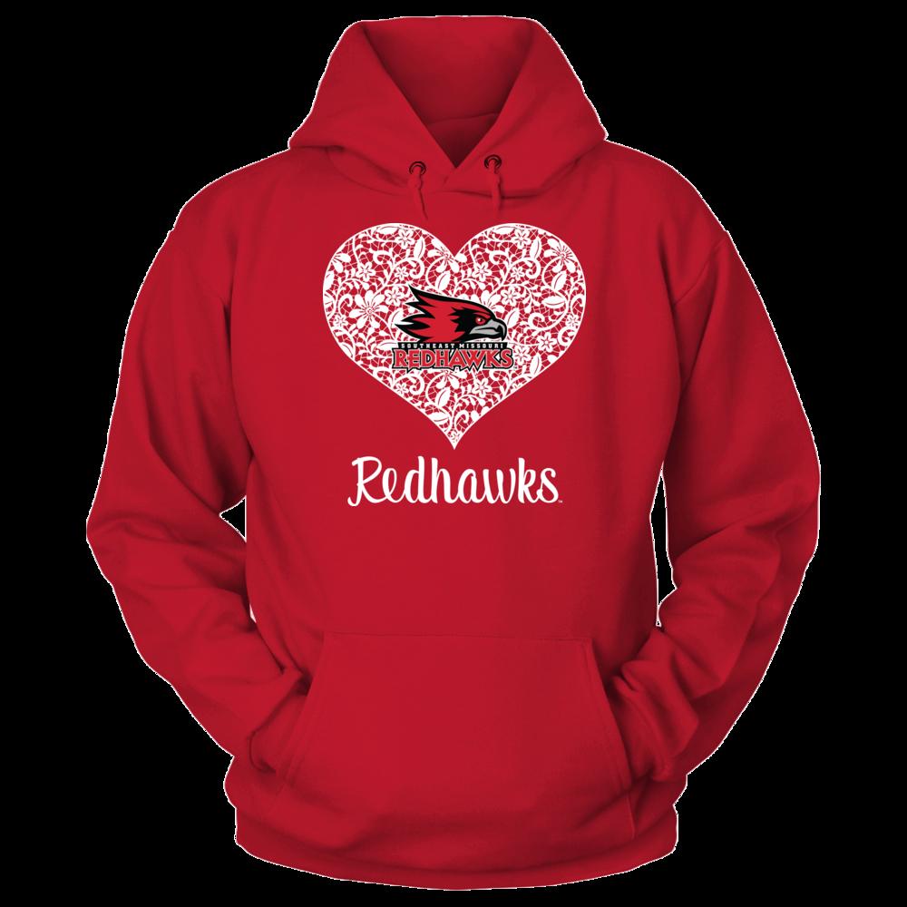 Southeast Missouri State Redhawks Lace Heart Logo - Southeast Missouri State Redhawks FanPrint