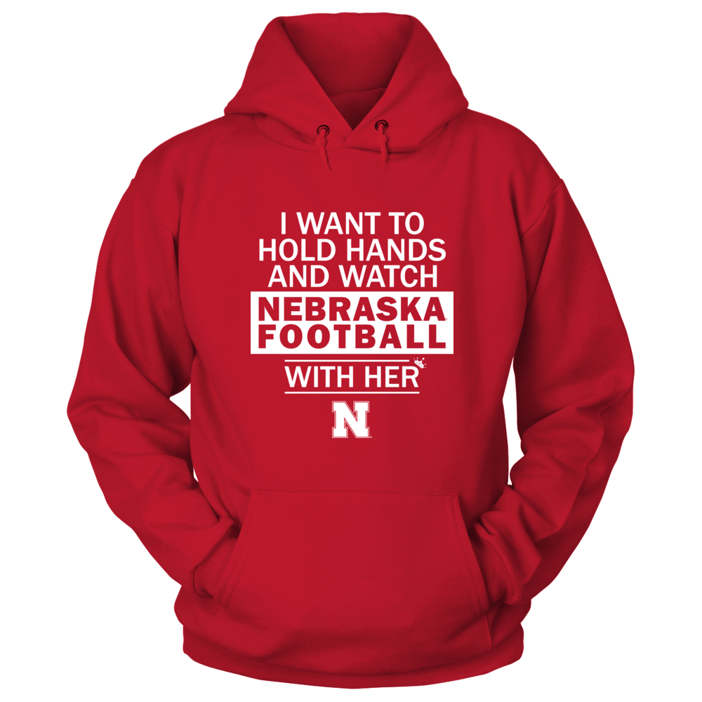 Nebraska Cornhuskers - Hold Hand and Watch Football With Her Front picture
