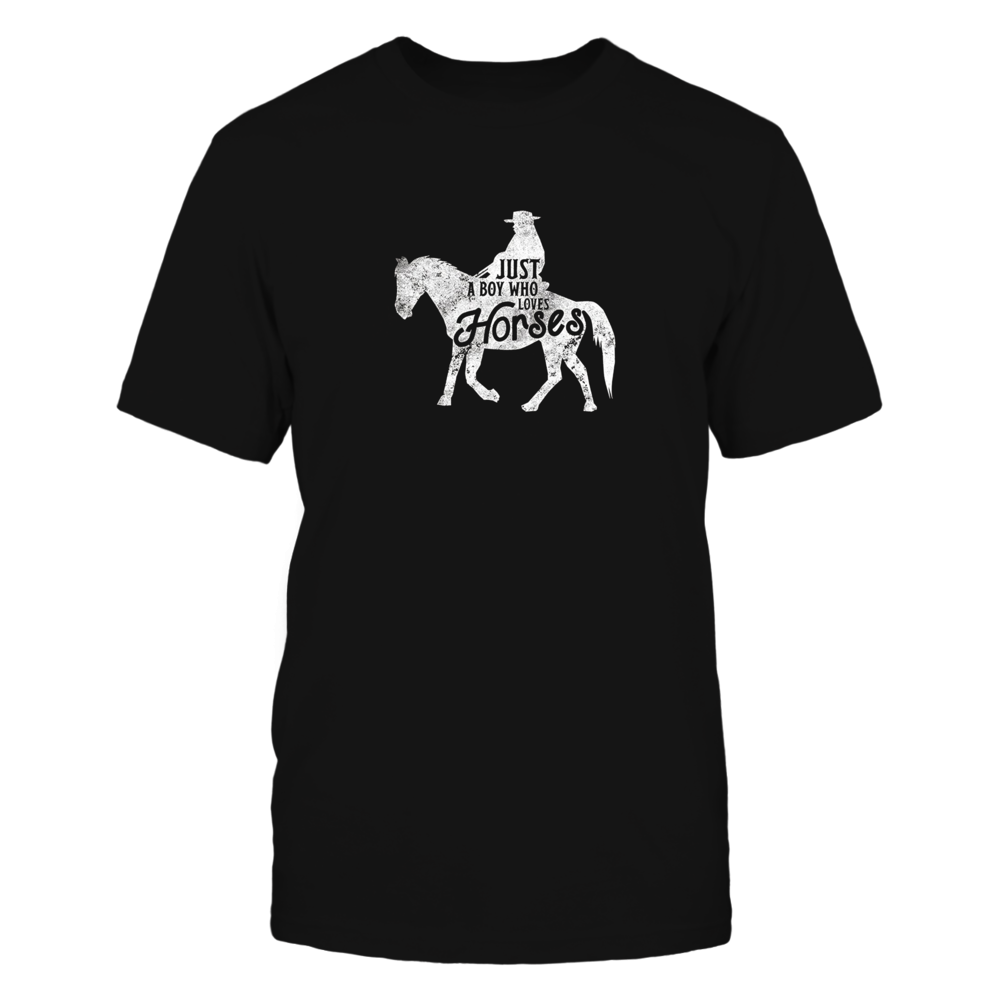 TShirt Hoodie Cowboy Boy Who Loves Horses Shirt Horse Owner Tee Love Texas FanPrint