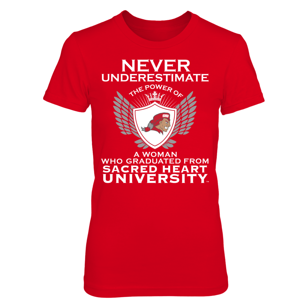 Sacred Heart Pioneers Never Underestimate The Power Of A Woman - Sacred Heart Pioneers FanPrint