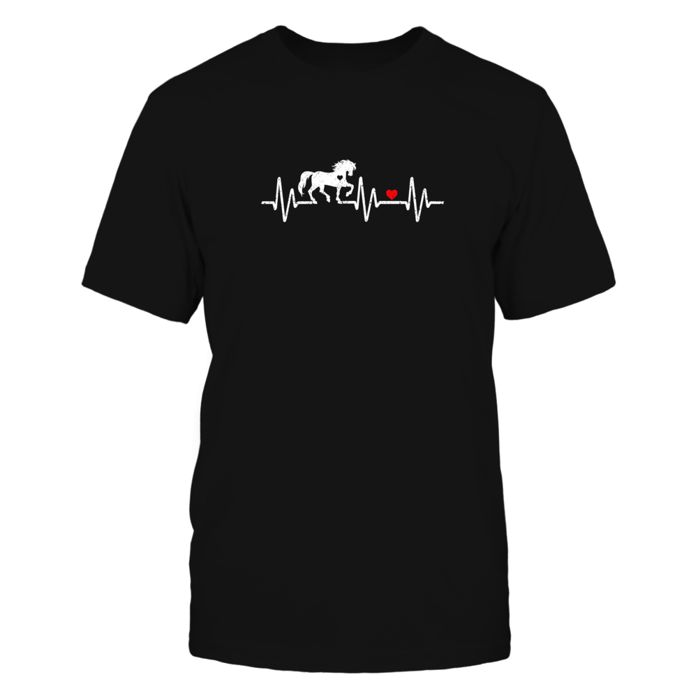 Horse Heartbeat Love Riding Horse T-Shirt Front picture