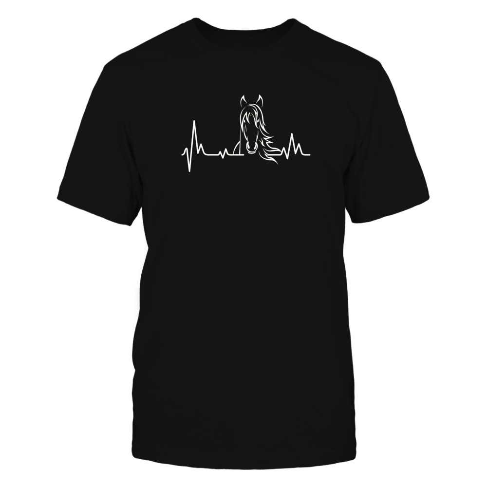 Horse Heartbeat Tshirt - Horse Lovers Shirt Front picture