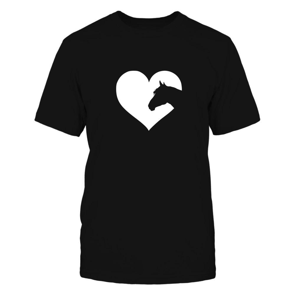 Horse lover T-Shirt gift for girls & women who love horses Front picture