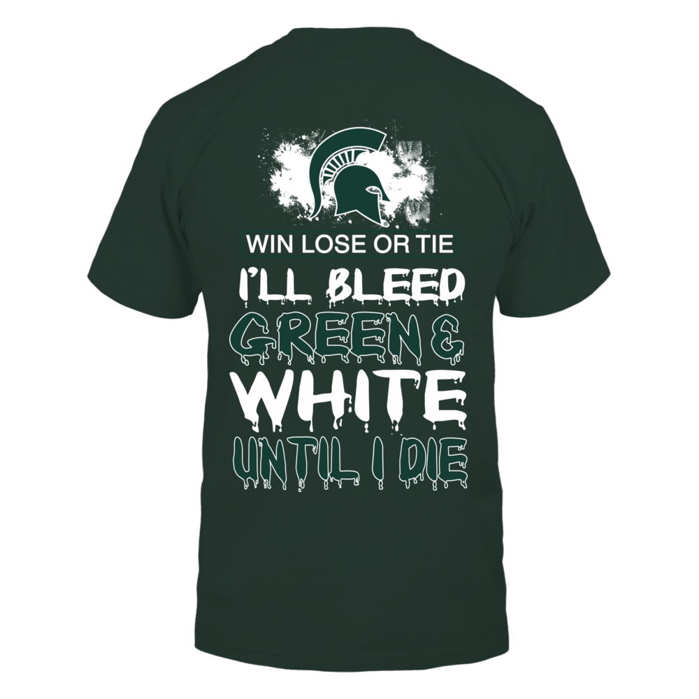 Michigan State Spartans - I Bleed Green And White Back picture