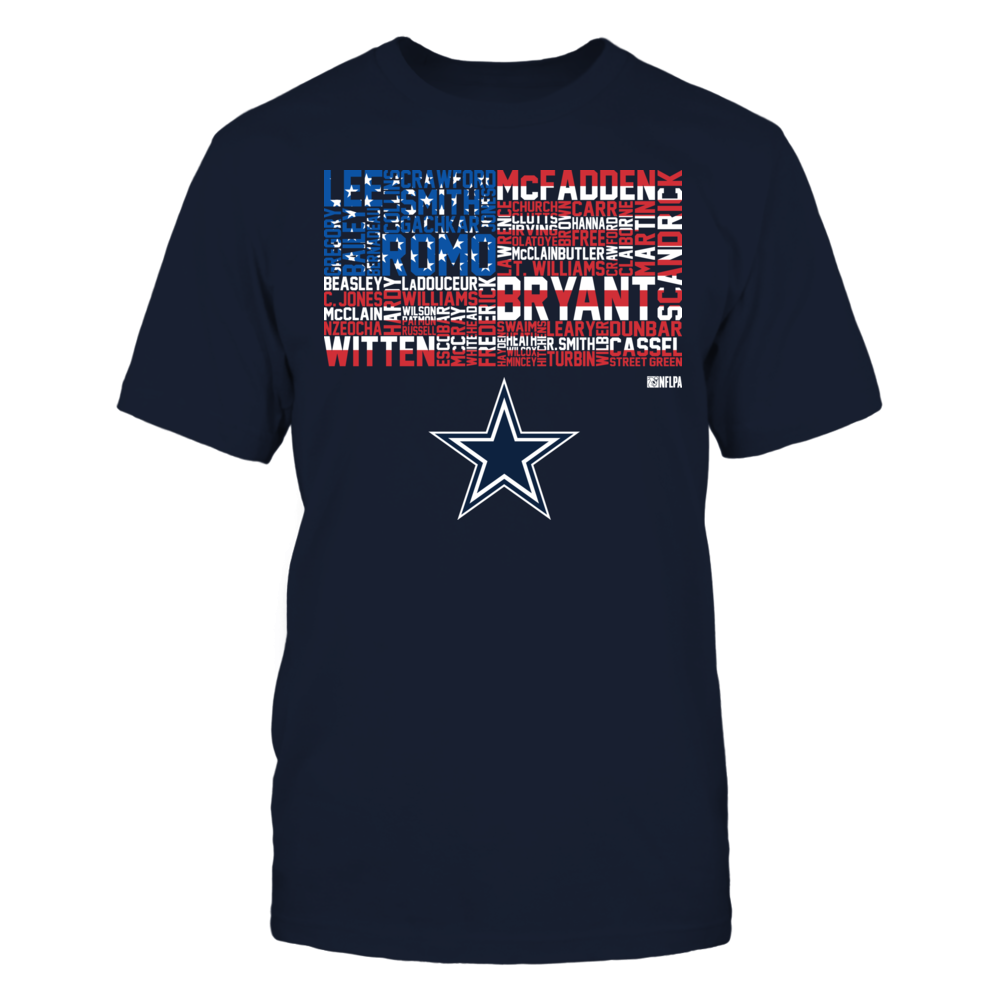 Jason Witten - USA Flag With Player Names Front picture