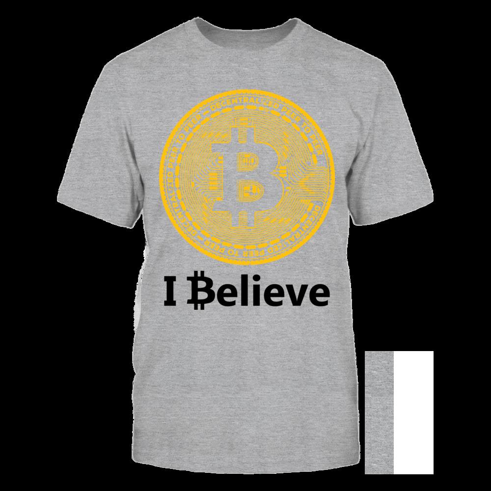 TShirt Hoodie I Believe in Bitcoin FanPrint