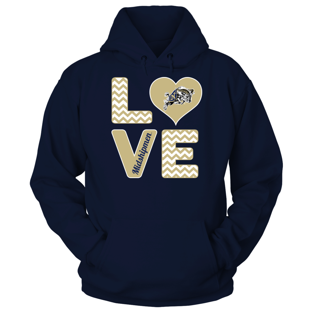 Stacked Love - Navy Midshipmen Front picture