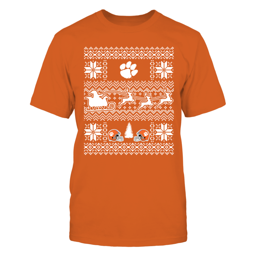 Ugly Christmas Sweater Clemson Tigers Front picture