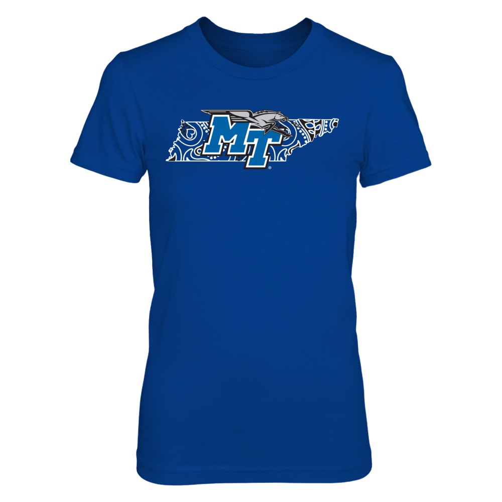 Middle Tennessee State Blue Raiders Paisley State - Middle Tennessee State Blue Raiders FanPrint