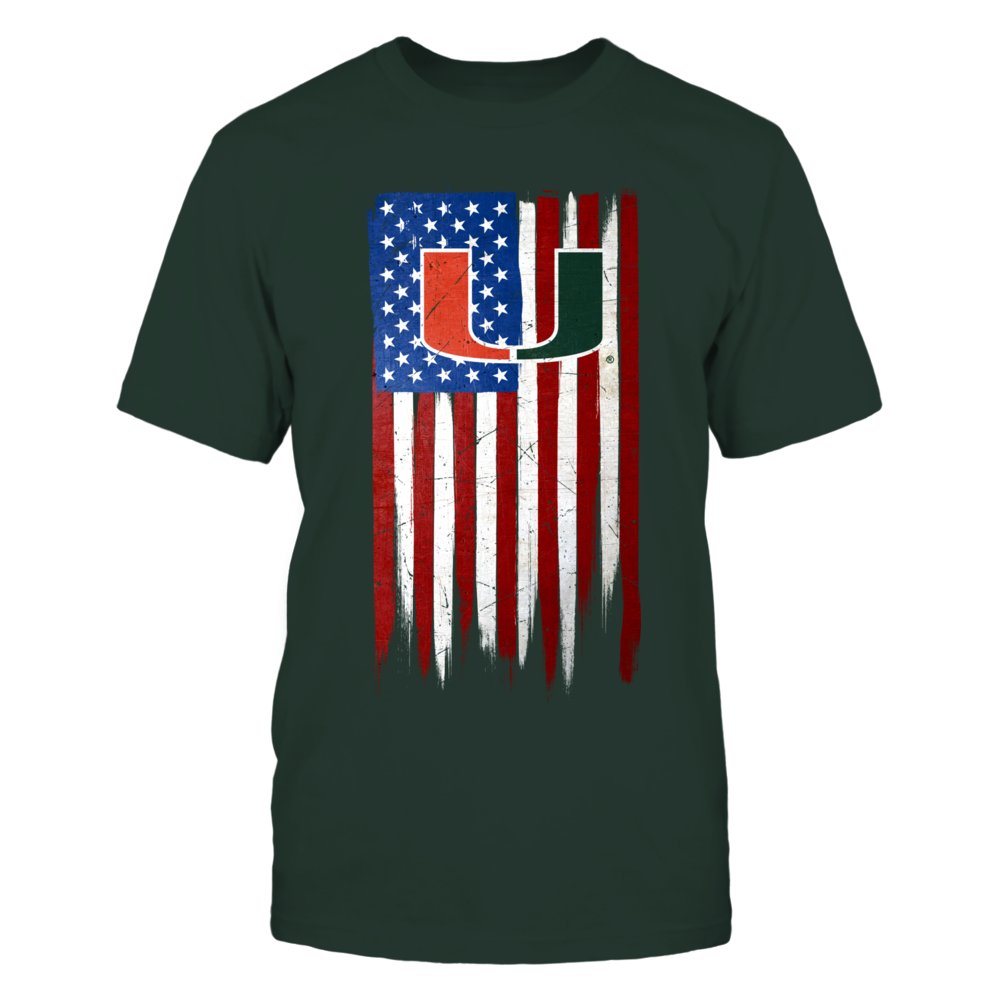 Grunge American Flag - Miami Hurricanes Front picture